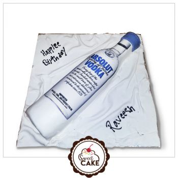 Absoult Vodka Photo Cake