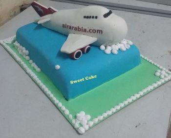 Airarabia Aeroplane Cake
