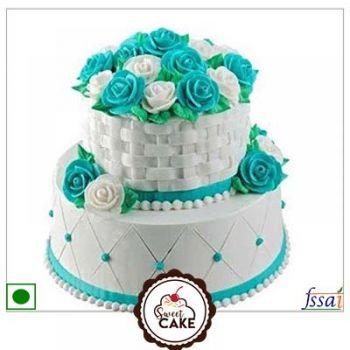 Vanila double layer cake
