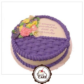 Butter Scotch flower Cake