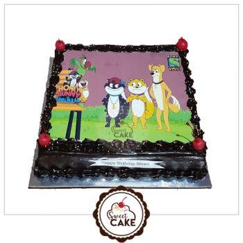 Dark Chocolate Photo Cake