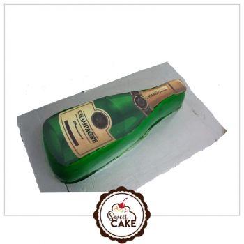 Champagne Photo Cake