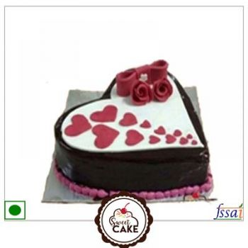 Chocolate Heart Fondant Cake