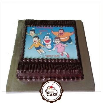 Chocolate Doramon Photo Cake