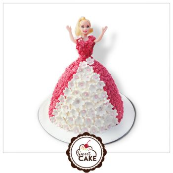 Pineapple Barbie Doll Cake