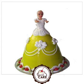 Sweet Barbie Doll Cake