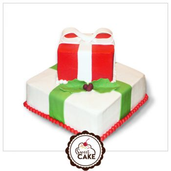 Double layer Gift pack cake