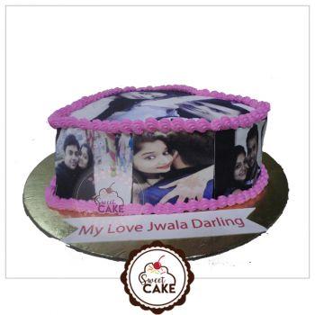 Chocolate Marwal Photo Cake
