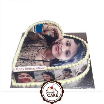 Chocolate Marwal Photo Cake