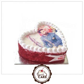 Red Valvet Photo Cake