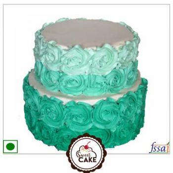 Rose Design Vanilla Cake
