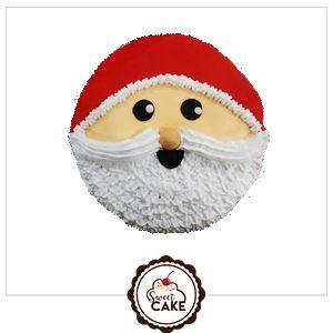 Santa Claus Face Cake