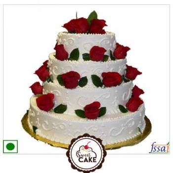 Strawberry Cake 3tier cake