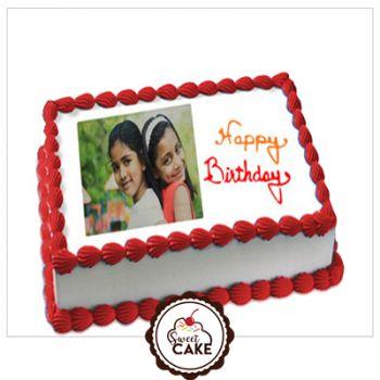 Delicious Vanila Photo Cake